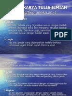 Bahasa Karya Tulis Ilmiah dan Imbuhan