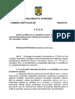 L E G E pentru modificarea şi completarea unor acte normative care cuprind dispoziţii privind evidenţa persoanelor şi actele de identitate