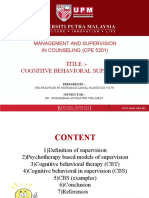 COGNITIVE BEHAVIORAL SUPERVISION .ppt