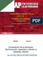SEMANA 4 - CONTESTACIÓN DE LA DEMANDA, RECONVENCIÓN