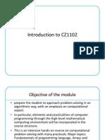 CZ1102 Computing & Problem Solving Lecture 1