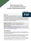 WebQuest Predicciones estadísticas