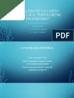 Análisis de la Carta Encíclica Popullorum Progretio