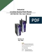 User Manual Iar-7002-Wa Wa+