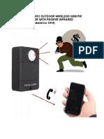 SECURETECH XR3 WIRELESS GSM PIR MOTION SENSOR