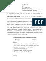 LIQUIDACION DE COSTAS Y COSTOS BENEDICTO