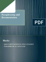 Paraphrasing & Documentation