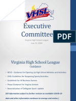 VHSL Power Point Presentation Reopening Sports