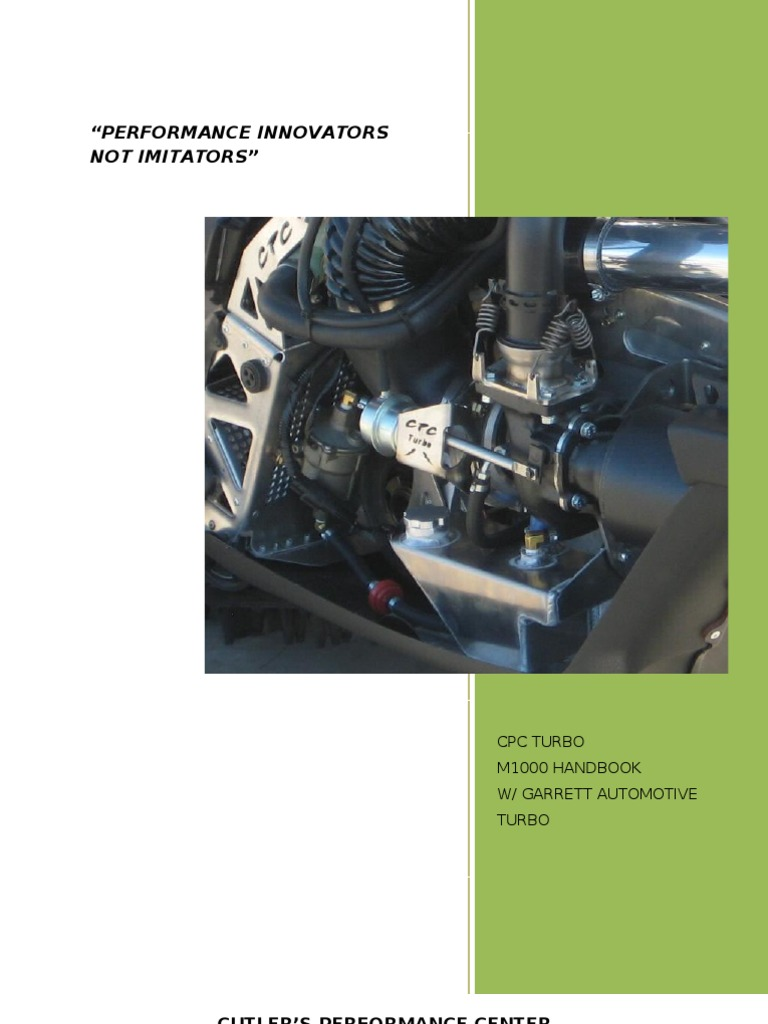 2011 CPC Turbo M1000 Handbook With Garrett Automotive Turbo | Turbocharger  | Electrical Connector