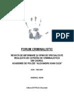 Forum Criminalistic nr. 4 of 2008