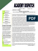 DSA Academy Dispatch January 2011