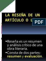 LA RESEÑA DE UN ARTÍCULO O LIBRO.pdf