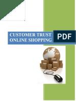 Customer Trust in Shopping Online