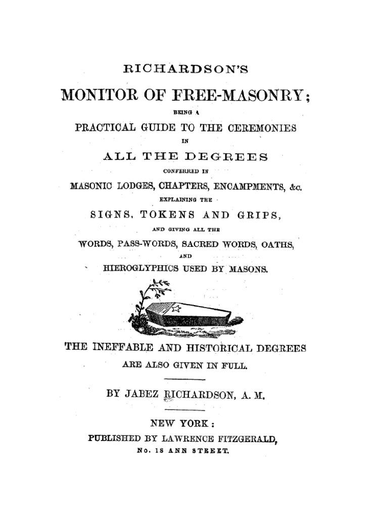 Richardsons monitor of freemasonry freemasonry masonic lodge fandeluxe Gallery