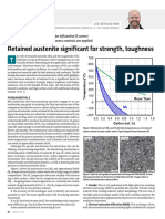 Retained austenite significant for strength, toughness
