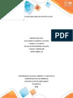 DISEÑO EXPLORATORIO DE LA INVESTIGACION GRUPO 102045_115