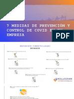 7 MEDIDAS DE PREVENCIÓN Y CONTROL DE COVID