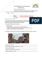 SESION DE APRENDIZAJE N°14 DE PERSONAL SOCIAL