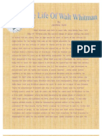 Walt Whitman Was a Wonderful Poet