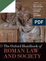 Oxford Handbook on Roman Law