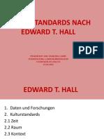 Kulturstandards nach Edward T. Hall
