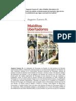 Entrevista a Augusto Zamora R. Sobre Malditos Libertadores