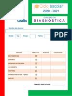 1. Evaluación Diagnóstica 2020 - CLAVE RESPUESTAS