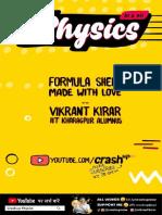 CrashUp Physics Formula Sheet Mobile version