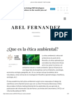 ¿Que es la ética ambiental_ – Abel Fernandez