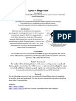 Lesson 4 - Ferromagnetism, Paramagnetism and Diamagnetism
