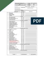 Check List de Inspección diaria por Equipo Scoop