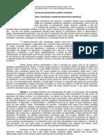 Panorama do pensamento político ocidental _ Prof. Antonio Rodrigues