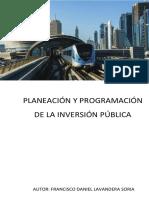 Libro Planeacion y Programacion de La Inversion Publica