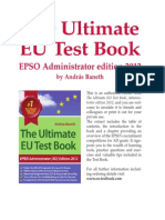 The Ultimate EU Test Book - Administrator Edition 2012 - Extract