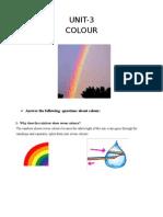 Unit-3 & 4 Colour, Space & Volume