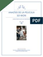 ANALISIS DE LA PELICULA    SO-won