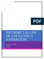Informe de talleres de animacion y locucion