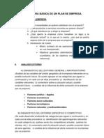 Estructura Basica de un Plan de Empresa