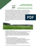 Clear Creek Petersen Farm Factsheet