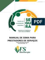 MANUAL DE SSMA PRESTADORES DE SERVIÇOS PARADA DE MANUTENÇÃO LRV