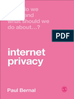 (What Do We Know And What Should We Do About ..._) Paul Bernal - What Do We Know And What Should We Do About Internet Privacy_-Sage Publications (2020)