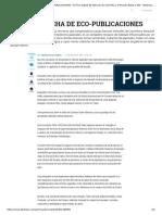 UNA AVALANCHA DE ECO-PUBLICACIONES - Archivo Digital de Noticias de Colombia y el Mundo desde 1.990 - eltiempo.com