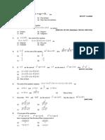 quadratic questions