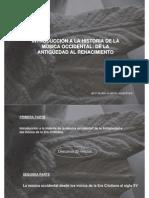 INTRODUCIÓN A LA HISTORIA DE LA MÚSICA OCCIDENTAL - DE LA ANTIGÜEDAS AL RENACIMIENTO