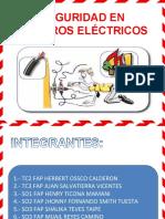 SEGURIDAD EN PELIGROS ELECTRICOS