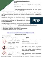 PRODUTOS APROVADOS PELA ANVISA -COVID-19 x TÚNEL DESINFETANTE