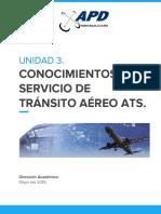 3. - Conocomientos del servicio de transito áereo ATS
