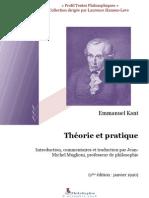 Kant-Théorie et pratique