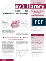 Summer 2010 Today's Library Newsletter, Timberland Regional Library