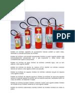 Equipamentos de combate a incêndio